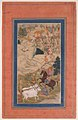 """Akbar Hunting with Cheetahs"", Folio from an Akbarnama MET sf30-95-174-8a.jpg"