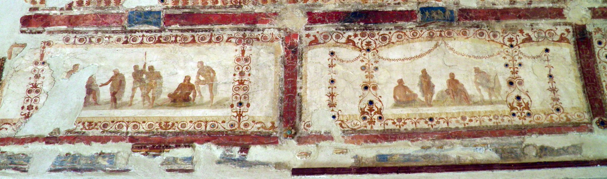 """""""Nerone"""" exhibition, Palatine Museum the luxury of the imperial palace, the painted decoration of the Domus Transitoria, Rome (6668778737)"""