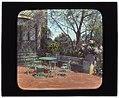 """Près Choisis,"" Albert Herter house, Georgica Pond, East Hampton, New York. Blue and white garden terrace LCCN2008675773.jpg"