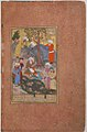 """Shaikh San'an and the Christian Maiden"", Folio 22v from a Mantiq al-Tair (Language of the Birds) MET sf63-210-22r.jpg"
