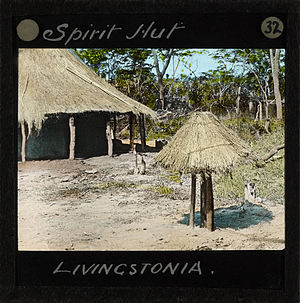 Spirit house - A spirit house in Livingstonia, Malawi (ca.1910)