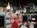 'Bra 's' as curiosity decoration at 'Mad Monkey hostel ' roof-top pub..JPG