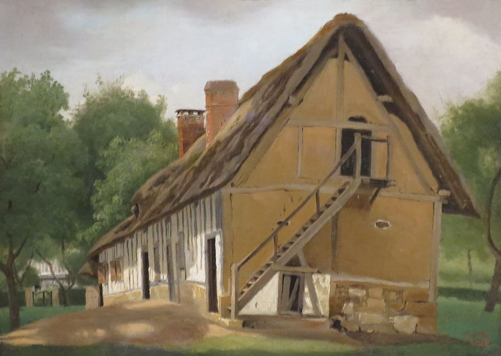 Buffalo Bois Guillaume - Archivo'Farm Building at Bois Guillaume' by Corot, Norton Simon Museum JPG Wikipedia, la