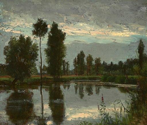 'Grez-sur-Loing' by Winckworth Allan Gay
