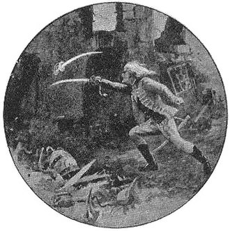 The Secret of Wilhelm Storitz - Haralan fighting an invisible Wilhelm Storitz