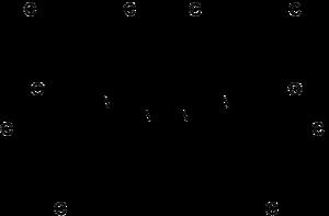 Strukturformeln von (±)-Miconazol