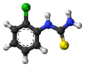 (2-Chlorophenyl)thiourea molecule ball.png