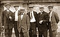 (Left to right) James Campbell Besley, Franklin B. Coates, Arthur Galaid, J. W. Dunn, F. Eugene Farnsworth and John Knight Holbrook before their 1913 South American Expedition.jpg