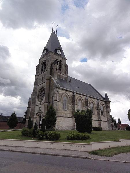 Étreillers (Aisne) église Saint-Cyr-et-Sainte-Julitte