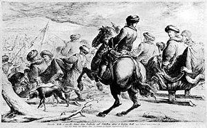 Great Sleigh Drive - Image: Übergang Friedrich Wilhelms über das Frischhaff 1679