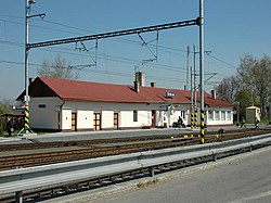 Štítina railway station, Czech Republic.jpg