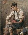 Νικηφόρος Λύτρας - Παιδί που στρίβει τσιγάρο.jpg