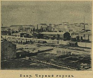 Black City (Baku) - Black City, Baku. Photo from Nature and People magazine No. 50, 1910.