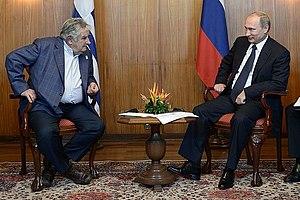 Russia–Uruguay relations - Vladimir Putin and José Mujica.