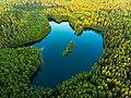 Красивое озеро Глубелька на закате дня.jpg