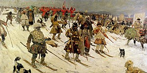 Battle of Orsha - Russian campaign against the Lithuanians (oil on canvas by Sergey Ivanov, 1903).