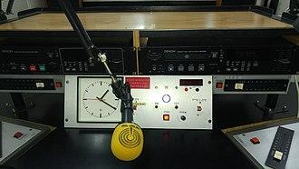 Kol Yisrael - Broadcaster microphone in Kol Israel studios near Sarona
