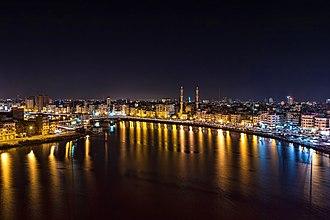 Damietta - Image: دمياط مساءا وجامع البحر