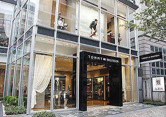 Tommy Hilfiger - Exterior of a Tommy Hilfiger store in Tokyo, Japan, in 2008