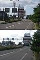 北海道道63号函館空港線・終点(起点側から、2枚合成).jpg