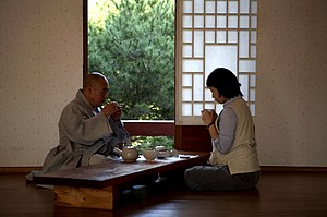Temple Stay - Conversation over Tea with Monastics