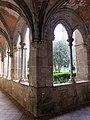 099 Sant Jeroni de la Murtra, galeria del claustre, angle nord-oest.JPG