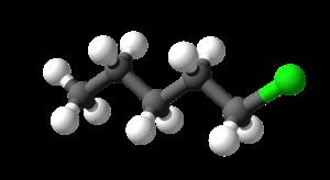 1-Chloropentane - Image: 1 chloropentane 3D balls