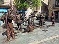 104 Grup escultòric Baliga-balaga, a la plaça Major de Centelles.jpg