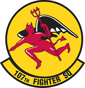 107th Fighter Squadron - Image: 107th Fighter Squadron emblem