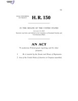 116th United States Congress H. R. 0000150 (1st session) - Grant Reporting Efficiency and Agreements Transparency Act of 2019 C - Referred in Senate.pdf
