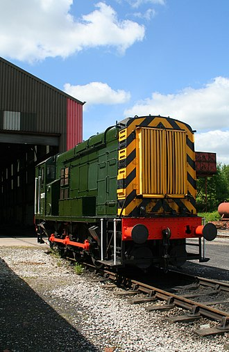 Midland Railway – Butterley - 12077 outside museum shed