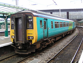 Arriva Trains Northern - Northern Spirit liveried 156443 at Carlisle station in August 2004