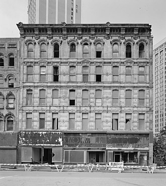 Monroe Avenue Commercial Buildings - Second Williams Block, 16-30 Monroe Avenue, 1989.