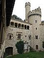 162 Castell de Santa Florentina (Canet de Mar), pati, façana oest i torre nord-oest.JPG