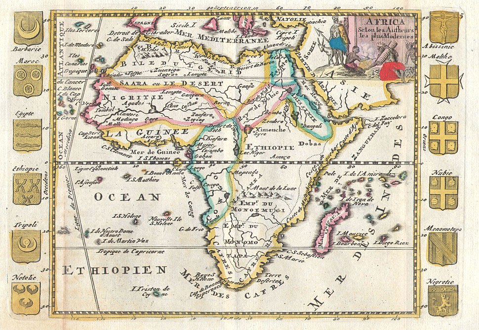 1710 De La Feuille Map of Africa - Geographicus - Africa-lafeuille-1710