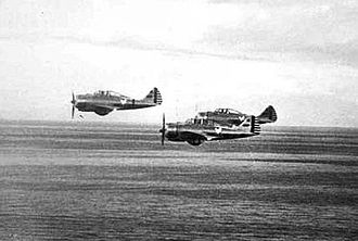 17th Weapons Squadron - P-35s of the 17th Pursuit Squadron, 1941.