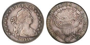 Αποτέλεσμα εικόνας για 1804 Silver Dollar