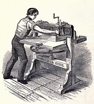 Paper cutter - 1820s old style paper cutter