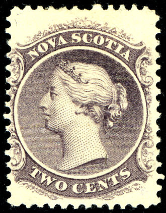 Postage stamps and postal history of Nova Scotia - 2 cents issued 1863.