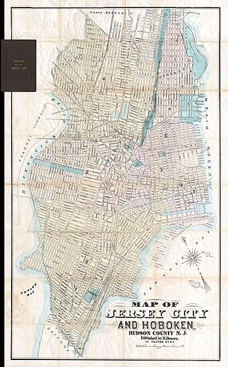 Jersey City, New Jersey - Jersey City and Hoboken in 1886