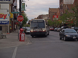 Lower West Side, Chicago - A retired 4400-series TMC RTS bus in the Pilsen neighborhood in May 2008