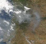 Skogsbränderna i Portugal 2017.