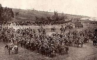 Mametz, Somme - The 18th Lancers near Mametz in 1916