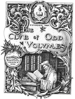 The Club of Odd Volumes - Image: 1904 Club of Odd Volumes Boston