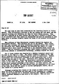 November 1948 USAF Top Secret document citing extraterrestrial opinion
