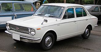 Automotive industry in Japan - First generation Toyota Corolla (1966), the world's all-time best selling line of cars; in its 12th generation as of 2018