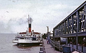 PS Lincoln Castle - At New Holland Pier in 1975