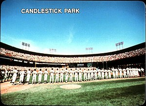1987 San Francisco Giants season - Image: 1987 Mother's Cookies Candlestick Park