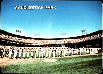 San Francisco Giants - The 1987 Giants, pictured above at Candlestick, led the club to its first postseason appearance since 1971.