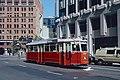 1987 SF Historic Trolley Festival - Hamburg 3557 on First near Market.jpg